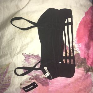 Express strappy cutout back bralette in black